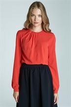 Ярко-оранжевая женственная блузка Nife