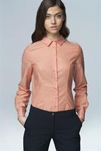 Нежно оранжевая рубашка с длинным рукавом Nife