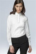 Белая рубашка-поло Nife с длинным рукавом