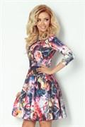 Коктейльное платье с орнаментом цветы