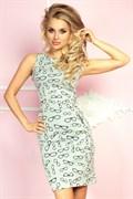 Трикотажное облегающее платье с принтом