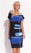 Черно-синее платье Zaps