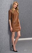Платье «под кожу» прямого фасона Zaps