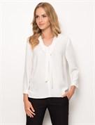 Белая блуза с завязкой SUNWEAR