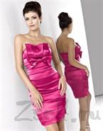 Элегантное атласное платье