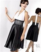 Женственное черно-белое платье