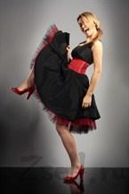 Коктейльное платье с пышной юбкой