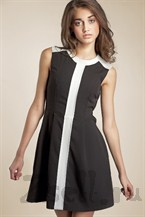 Повседневное платье с вертикальной полосой
