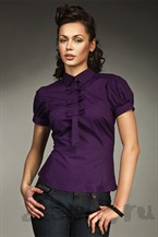 Современная блузка с рукавами фонариками