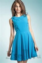 Повседневное платье А силуэта голубое