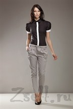 Зауженные брюки, цвет серый