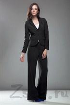 Стильные широкие брюки, цвет черный