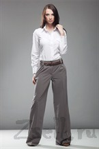 Стильные широкие брюки, цвет мокко