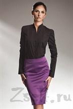 Атласная юбка фиолетовая