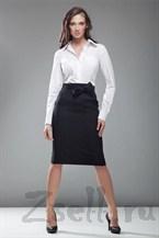 Черная юбка карандаш с бантом