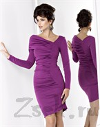 Платье с драпировкой, фиолетового цвета