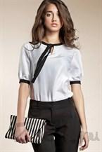 Белая блуза с рукавами фонариками