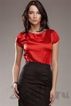 Блуза красная без застежек