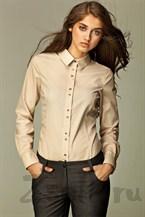 Рубашка с необычной раскладкой пуговиц
