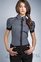 Серая рубашка с рукавами фонариками