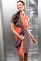 Яркое двухцветное платье