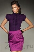 Яркая фиолетовая блуза на лето