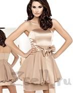 Модное  платье - бандо бежевое