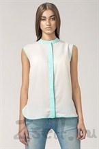 Летняя полупрозрачная блузка