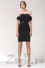 Черно-розовая летняя блузка
