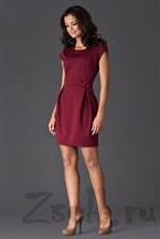 Короткое платье тюльпан, цвета бордо