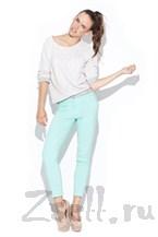 Узкие брюки-стрейч мятного цвета