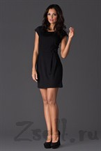 Платье-тюльпан черное на каждый день