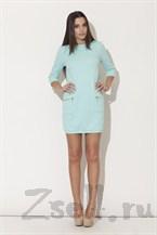 Платье туника, цвета аквамарин