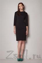 Женственное черное платье