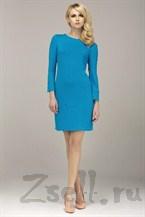Голубое платье на каждый день