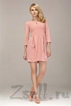 Повседневное розовое платье-тюльпан
