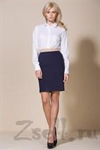 Классическая синяя юбка