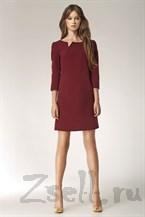 Великолепное бордовое платье