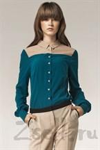 Стильная зеленая блуза