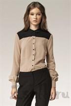 Стильная бежевая блуза