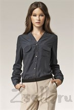 Изысканная блуза в горох