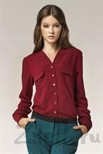 Изысканная бордовая блуза