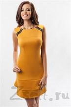 Кокетливое желтое платье-мини