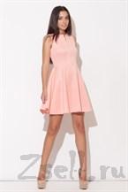 Летнее розовое платье А силуэта