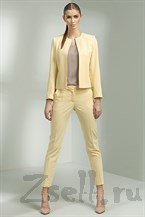 Ярко желтые узкие брюки