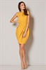 яркое желтое коктейльное платье платье тюльпан