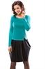 Зеленое платье с юбкой-тюльпан - фото 10149