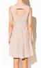 Бежевое платье с вышивкой - фото 10320