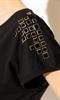 Модная черная блуза - фото 10494
