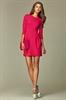 Малиновое платье-тюльпан - фото 10614